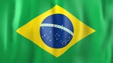 3D Animation of national flag of Brazil