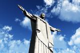 Corcovado Rio Jesus Statue 3D render