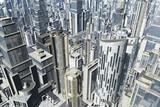 3D Metropolis Aerial View poster
