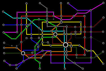 Subway Network People Connections Concept