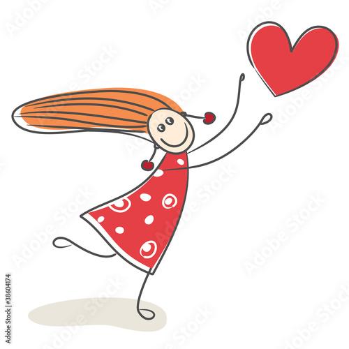Verliebtes Mädchen