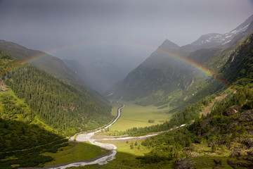 Rainbow in Alps