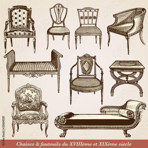 fauteuil XVIII ème et XIXème