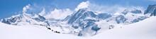 "Постер, картина, фотообои ""Swiss Alps Mountain Range Landscape"""