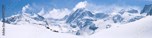 Swiss Alps Mountain Range Landscape - 38605599