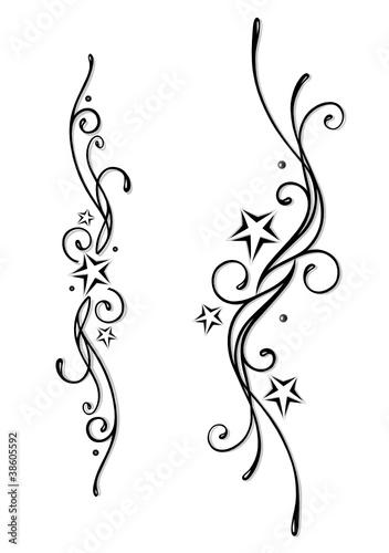 tattoo tribal sterne stars vector set black grey. Black Bedroom Furniture Sets. Home Design Ideas