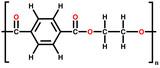 Polyethylene terephthalate (polyester) structural formula poster