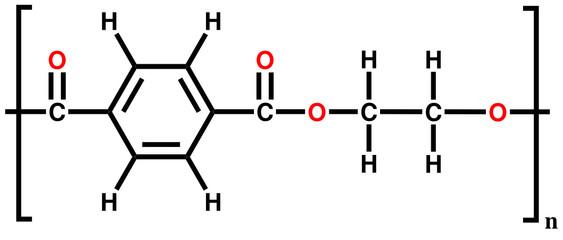 Polyethylene terephthalate (polyester) structural formula