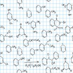 Chemical seamless pattern