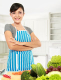 asian woman cooking poster