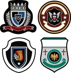 classic badge shield desgn