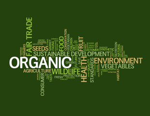 """""""ORGANIC"""" Tag Cloud (fruit vegetables quality ecology healthy)"""