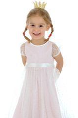 Kleines Mädchen als Prinzessin
