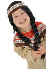 Kleines Mädchen als Indianerin