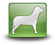 """Green 3D Effect Icon """"Dog / K9 / Canine"""""""