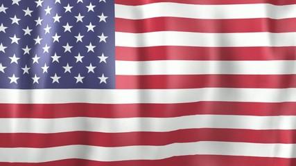 3D Animation of national flag USA