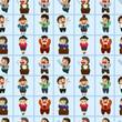 office worker seamless pattern