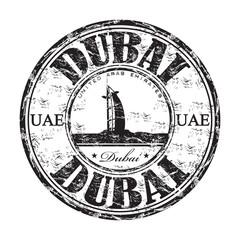 Dubai grunge rubber stamp