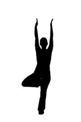 woman doing yoga, graphic