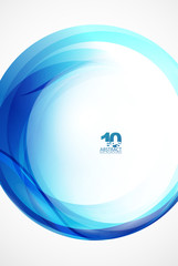 Blue wave sphere
