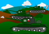 Three tanks attack cess as an illustration