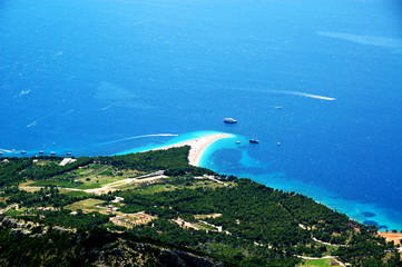 Landscape of the famous Golden Cape, Bol, Island Brac, Croatia