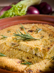couscous cake with onions