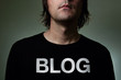 Blogger in a black shirt