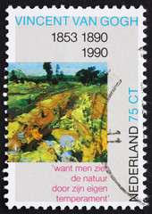 Postage stamp Netherlands 1990 The Green Vineyard, Detail