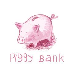 Piggy Bank - Vector illustration.