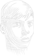 Face Line Drawing Vector