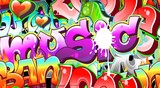 Graffiti Urban Art Background. Seamless design - 38619350