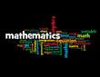 """""""MATHEMATICS"""" Tag Cloud (equation statistics scientific studies)"""