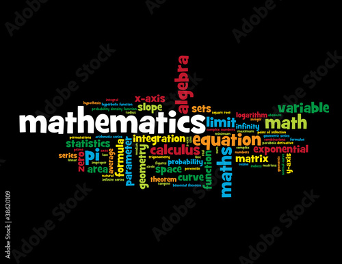 """MATHEMATICS"" Tag Cloud (equation statistics scientific studies)"