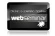 Tablet mit Web-Seminar