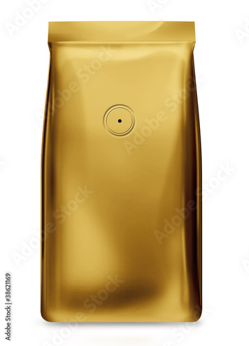 gold foil bag package with air valve