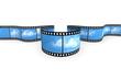 Filmstreifen mit Wolken