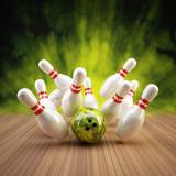 Bowling Strike grün - 38622554