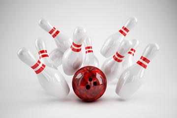 Bowling Strike weiss