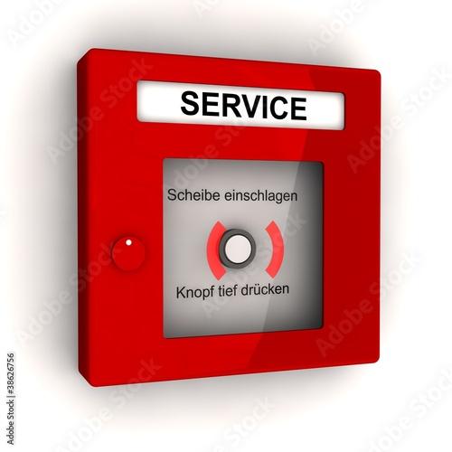 Roter Service Melder