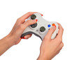 Female hands with a gamepad