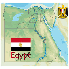 egypt africa map flag emblem
