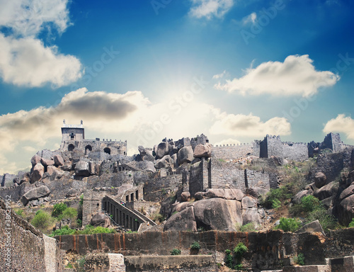 Historic Golkonda fort in Hyderabad city India Poster