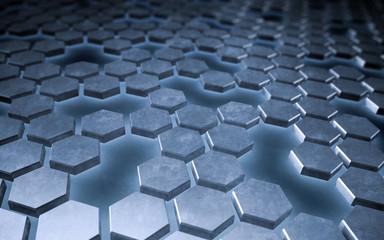 Abstract hexagonal tech bakground