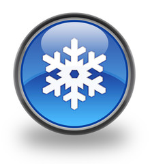 Snow Glossy Button