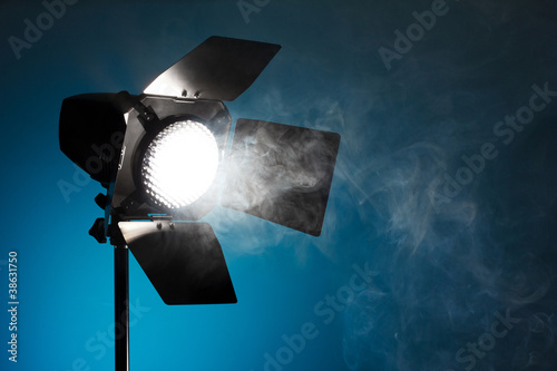 Studio spot light with smoke