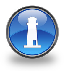 Lighthouse Glossy Button