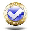 3d qualität service leistung button gold