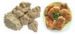 Dry soya chops and breaded soya burgers
