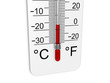 Leinwandbild Motiv Thermometer indicates low temperature